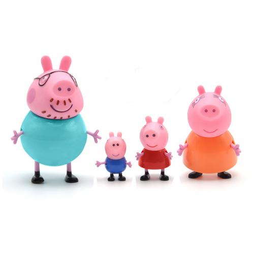 Peppa Pig Figures Family 4pcs