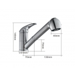 Kitchen faucet pull out single lever Mike&Jake